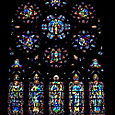 Transept windows by C. Connick