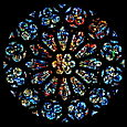 Great Rose, a dalle window by G. loire of Chartres France