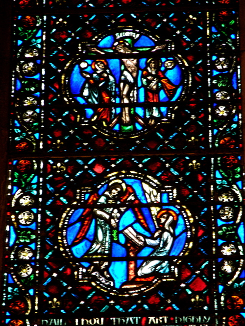 detail of medieval-style window