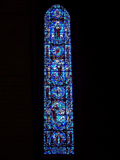 "Connick ""Blue"" window"