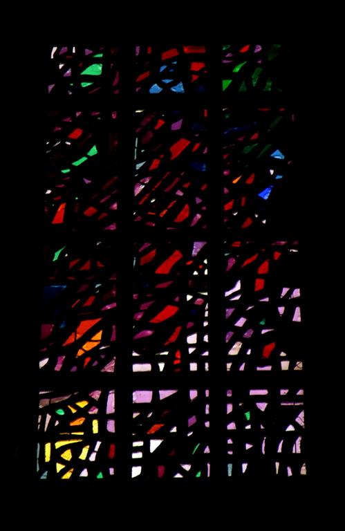 Detail of dalle de verre windows