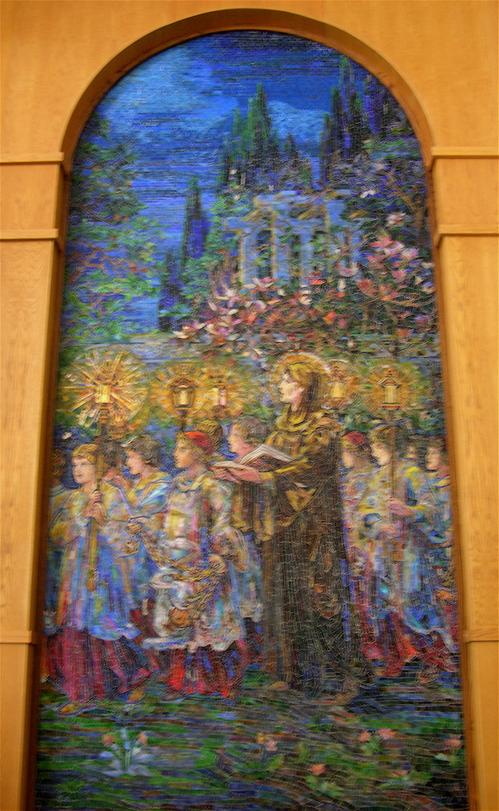 Tiffany mosaic, detail,