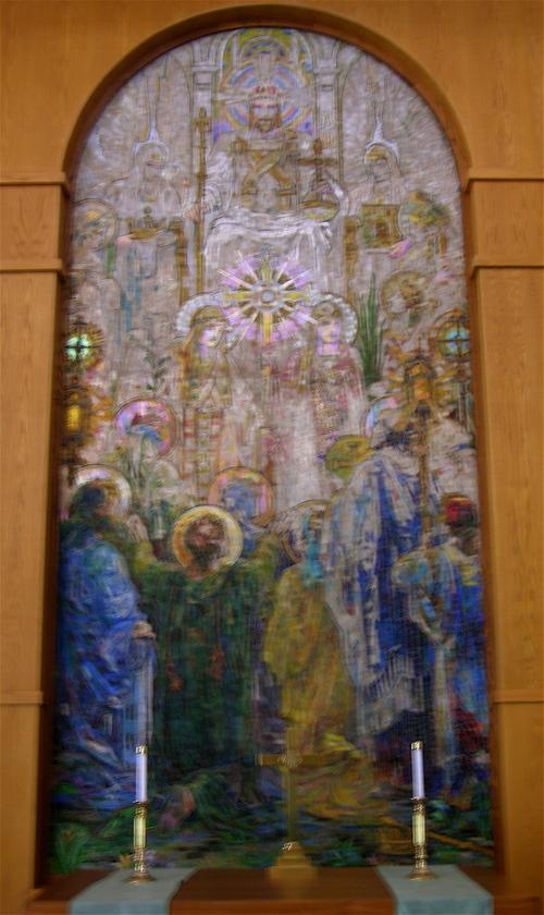 Tiffany mosaic, detail, center