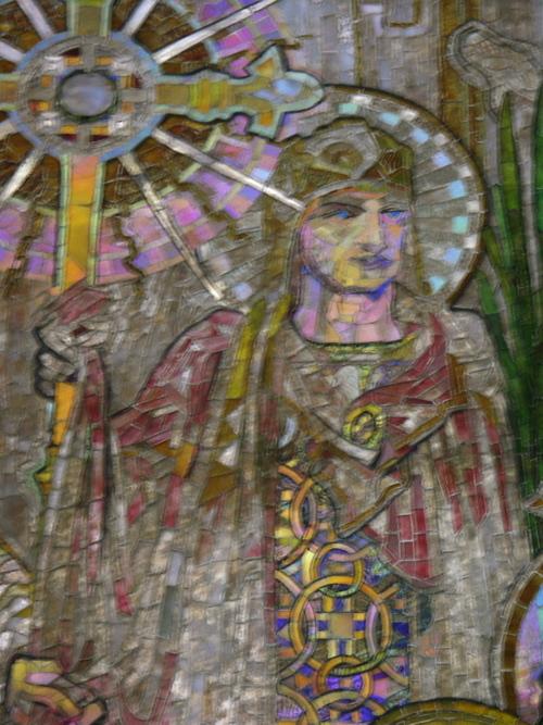 Tiffany mosaic, detail
