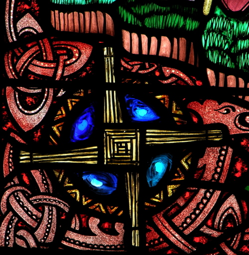 detail of a traditional peasant cross