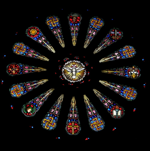 The Rose Window of the Seven Gifts of the Holy Ghost
