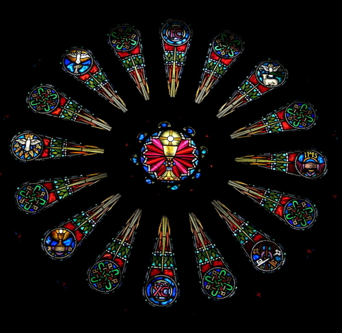 The Rose Window of the Seven Sacraments