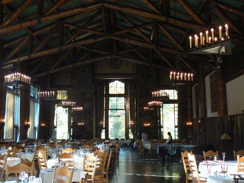interior of dining hall