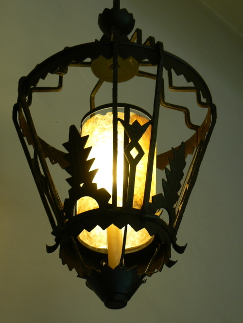 detail of a hanging lamp