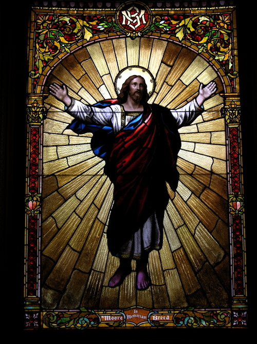 Jesus with outstretched arms